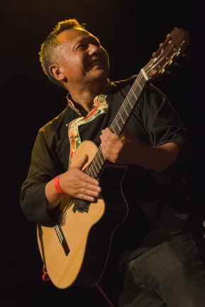 Guitarist Ringzing Wangyal at Techung concert Roxy Prague